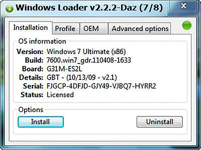 install windows loader 2.2.2