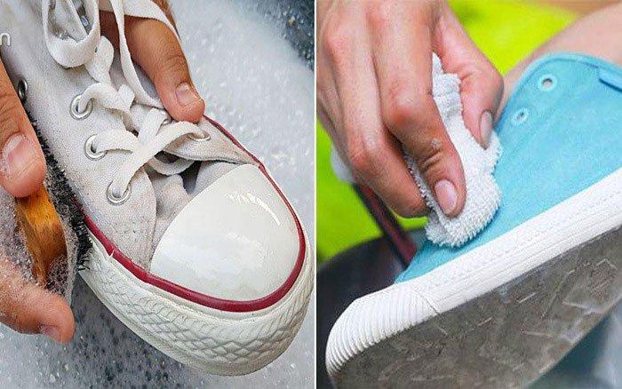 cách khử mùi hôi của giày - giặt giày