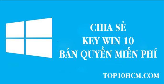 key win 10 bản quyền