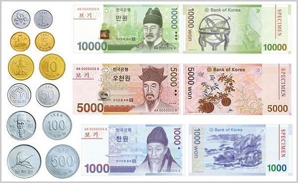 1 Won bằng bao nhiêu tiền Việt Nam