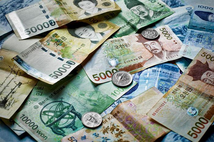 tiền ngoại tệ - won