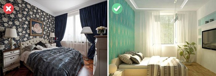 mẹo sắp xếp đồ đạc thông minh - chọn giấy gián tường phù hợp