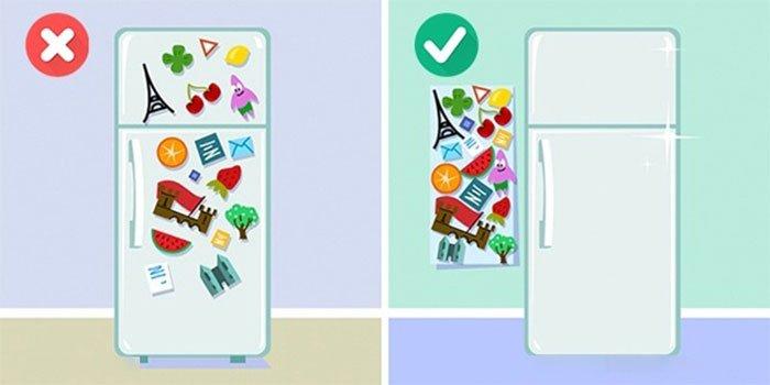 sắp xếp đồ đạc tủ lạnh phù hợp