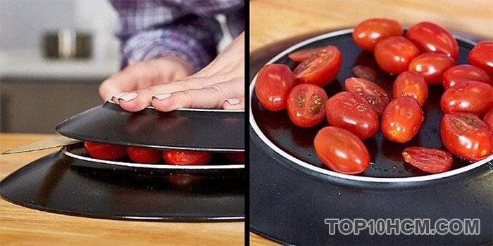 cắt cà chua bi