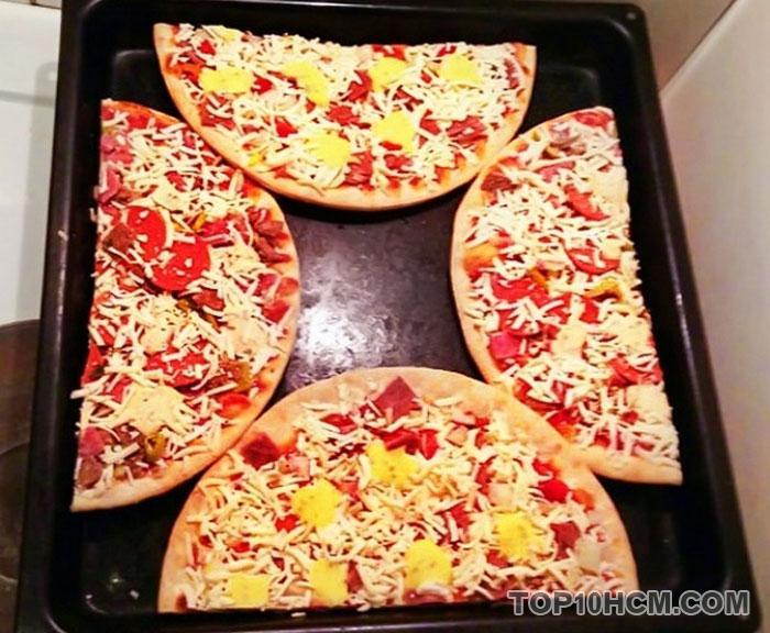 mẹo vặt đơn giản trong cuộc sống - nướng pizza