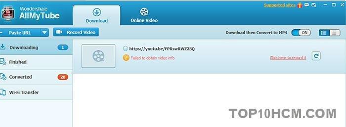 phần mềm tải video AllMyTube