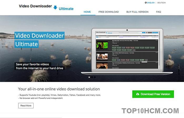 phần mềm tải video miễn phí - Video Downloader Ultimate