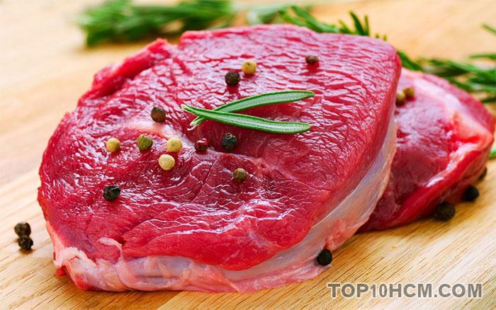 thực phẩm bổ máu - thịt bò