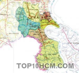 Bản đồ Huyện Nhà Bè TPHCM