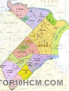 bản đồ các quận huyện của Thành Phố Hồ Chí Minh