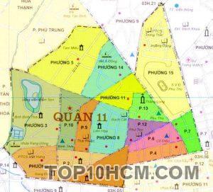 Bản đồ Quận 11 TPHCM