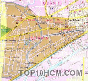 Bản đồ Quận 6 TPHCM