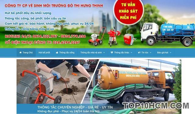 Công ty Cổ phần vệ sinh môi trường đô thị Hưng Thịnh