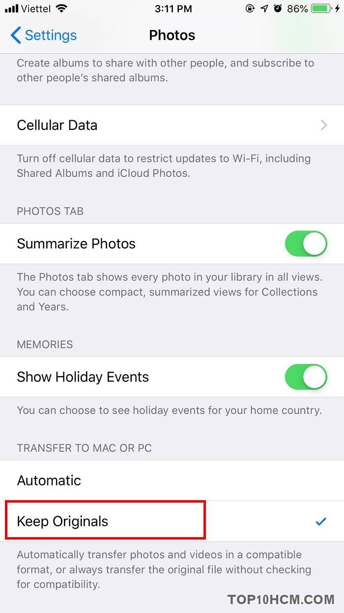 Cách copy hình ảnh từ iPhone sang máy tính