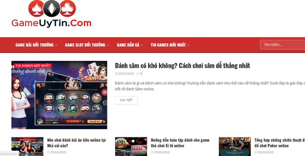 Trang web Gameuytin.com