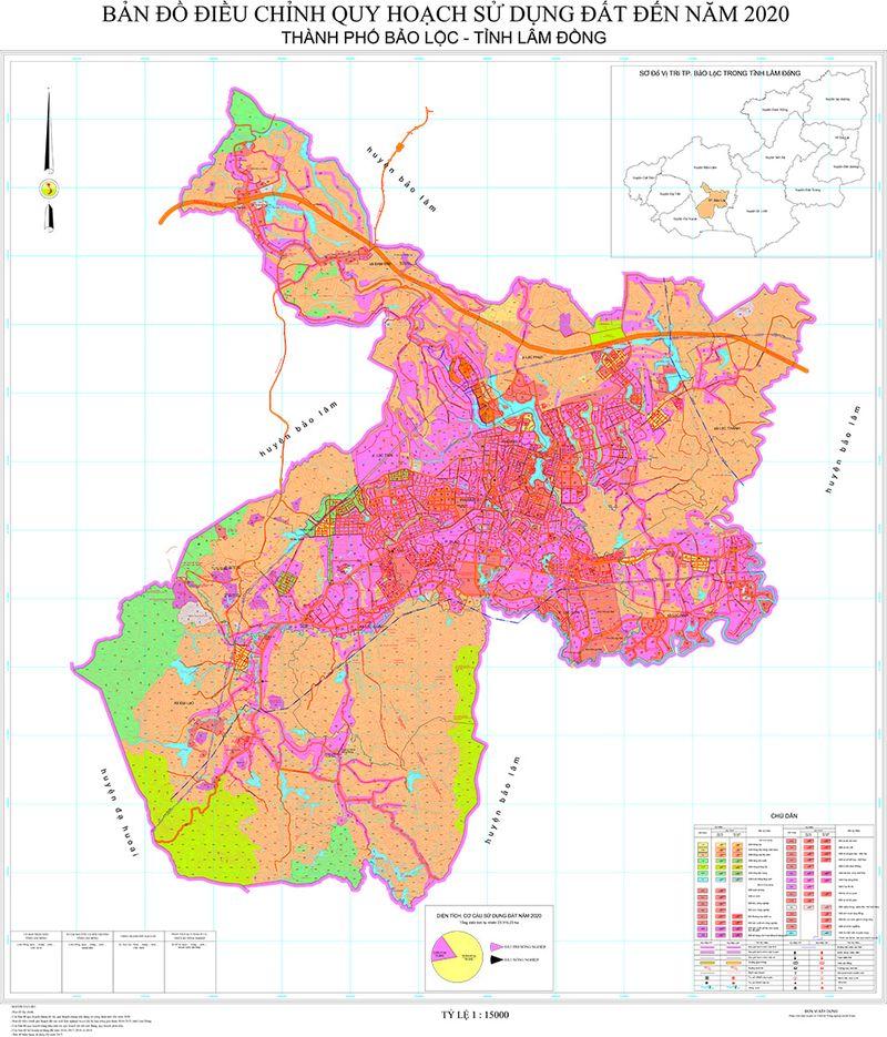 bản đồ quy hoạch sử dụng đất bảo lộc