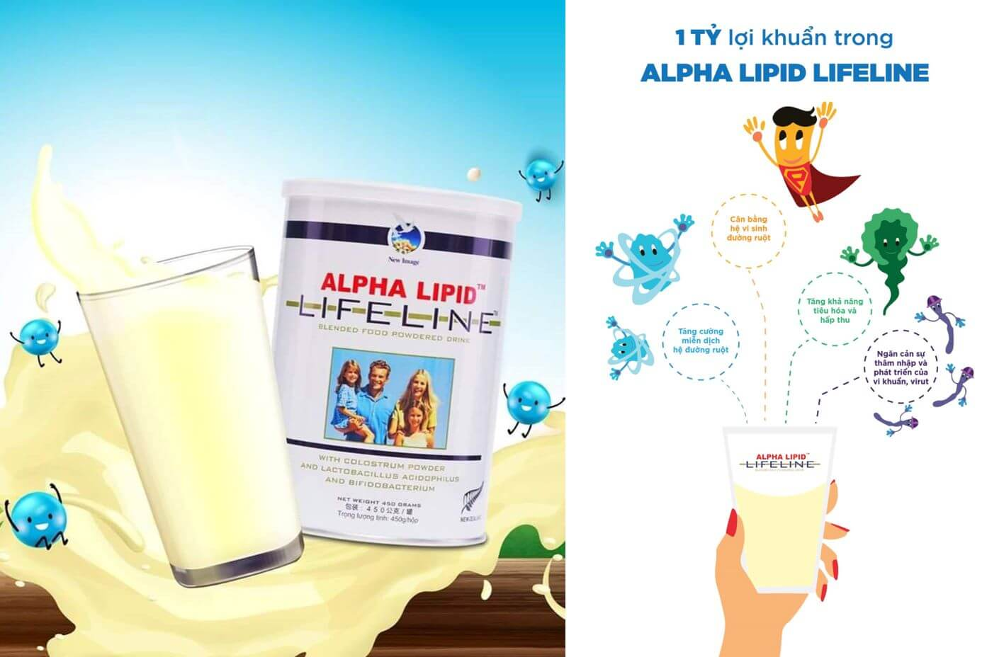 Sữa non Alpha Lipid Lifeline chính hãng nhập khẩu