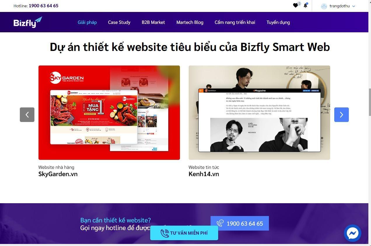 Hướng dẫn làm web chuyên nghiệp và ấn tượng với Bizfly Smart Web